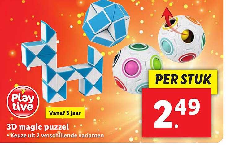 Lidl 3D Magic Puzzel