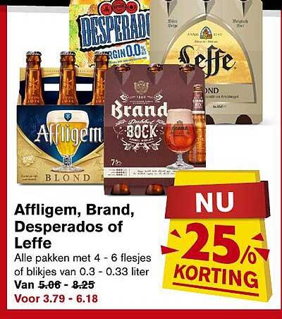 Hoogvliet Affligem, Brand, Desperados Of Leffe 25% Korting