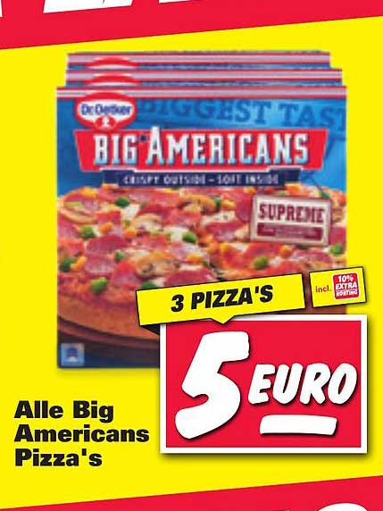 Nettorama Alle Big Americans Pizza's