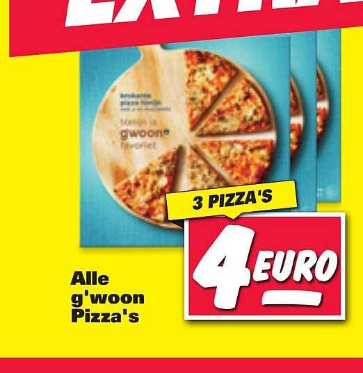 Nettorama Alle G'woon Pizza's