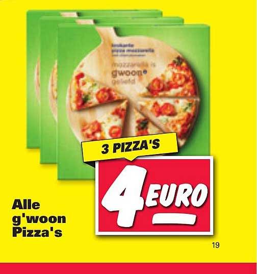 Nettorama Alle G'woon Pizza's Geliefd