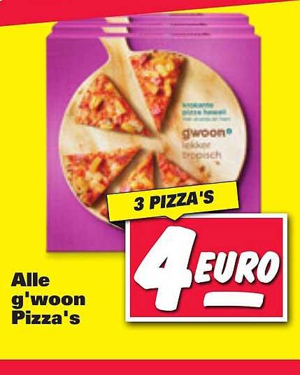 Nettorama Alle G'woon Pizza's Lekker Tropisch