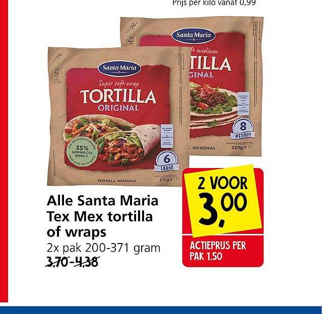 Jan Linders Alle Santa Maria Tex Mex Tortilla Of Wraps