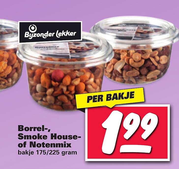 Nettorama Bijzonder Lekker Borrel-, Smoke House- Of Notenmix