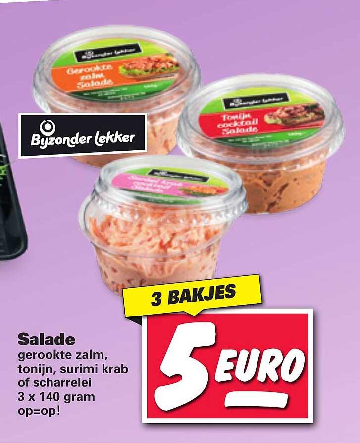 Nettorama Bijzonder Lekker Salade Gerookte Zalm, Tonijn, Surimi Krab Of Scharrelei