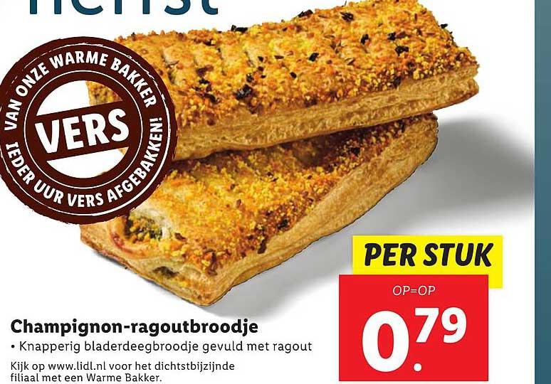Lidl Champignon-Ragoutbroodje