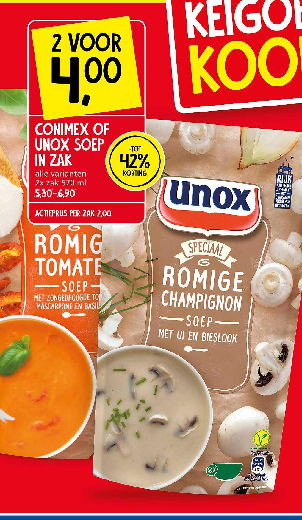 Jan Linders Conimex Of Unox Soep In Zak Tot 42% Korting