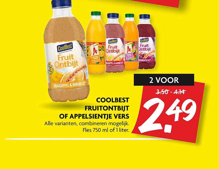 DekaMarkt Coolbest Fruitontbijt Of Appelsientje Vers