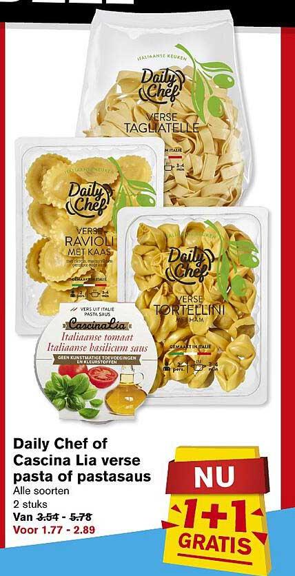 Hoogvliet Daily Chef Of Cascina Lia Verse Pasta Of Pastasaus 1+1 Gratis