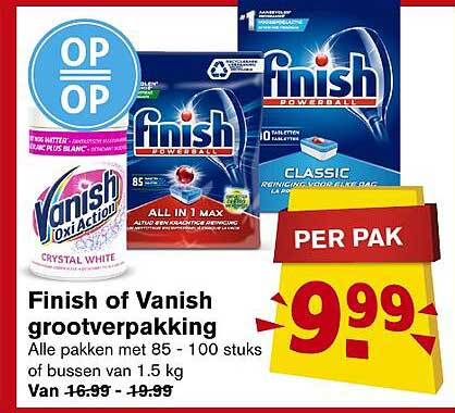 Hoogvliet Finish Of Vanish Grootverpakking
