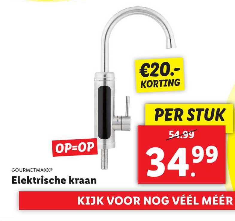 Lidl Gourmetmaxx® Elektrische Kraan €20.- Korting