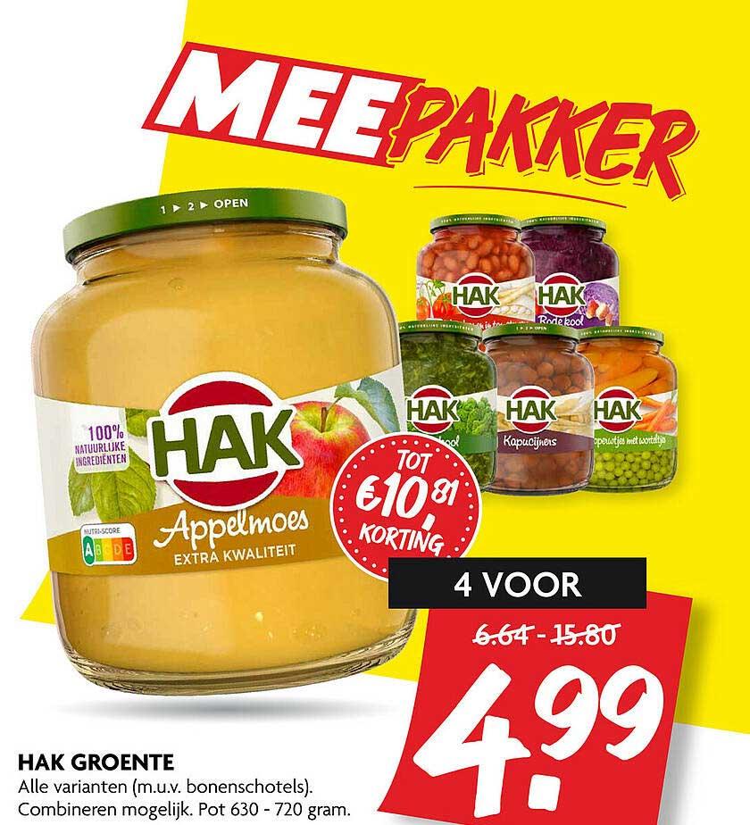 DekaMarkt Hak Groente Tot €10.⁸¹ Korting