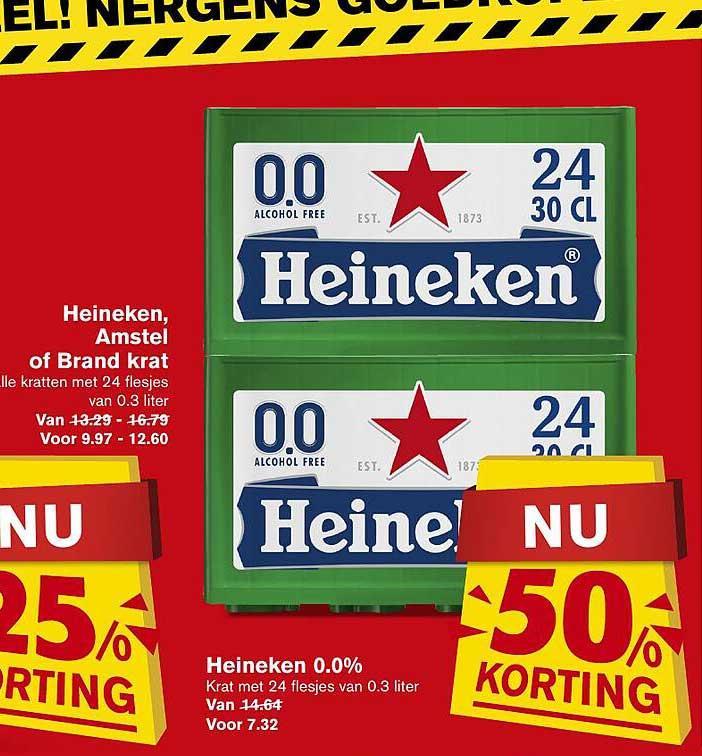 Hoogvliet Heineken 0.0% 50% Korting