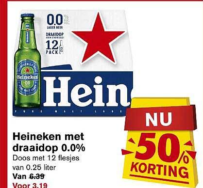 Hoogvliet Heineken Met Draaidop 0.0% 50% Korting