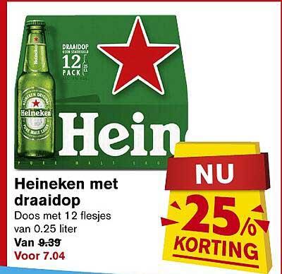 Hoogvliet Heineken Met Draaidop 25% Korting