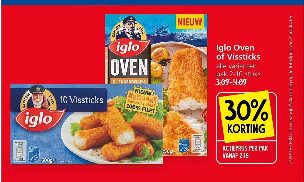 Jan Linders Iglo Oven Of Vissticks 30% Korting