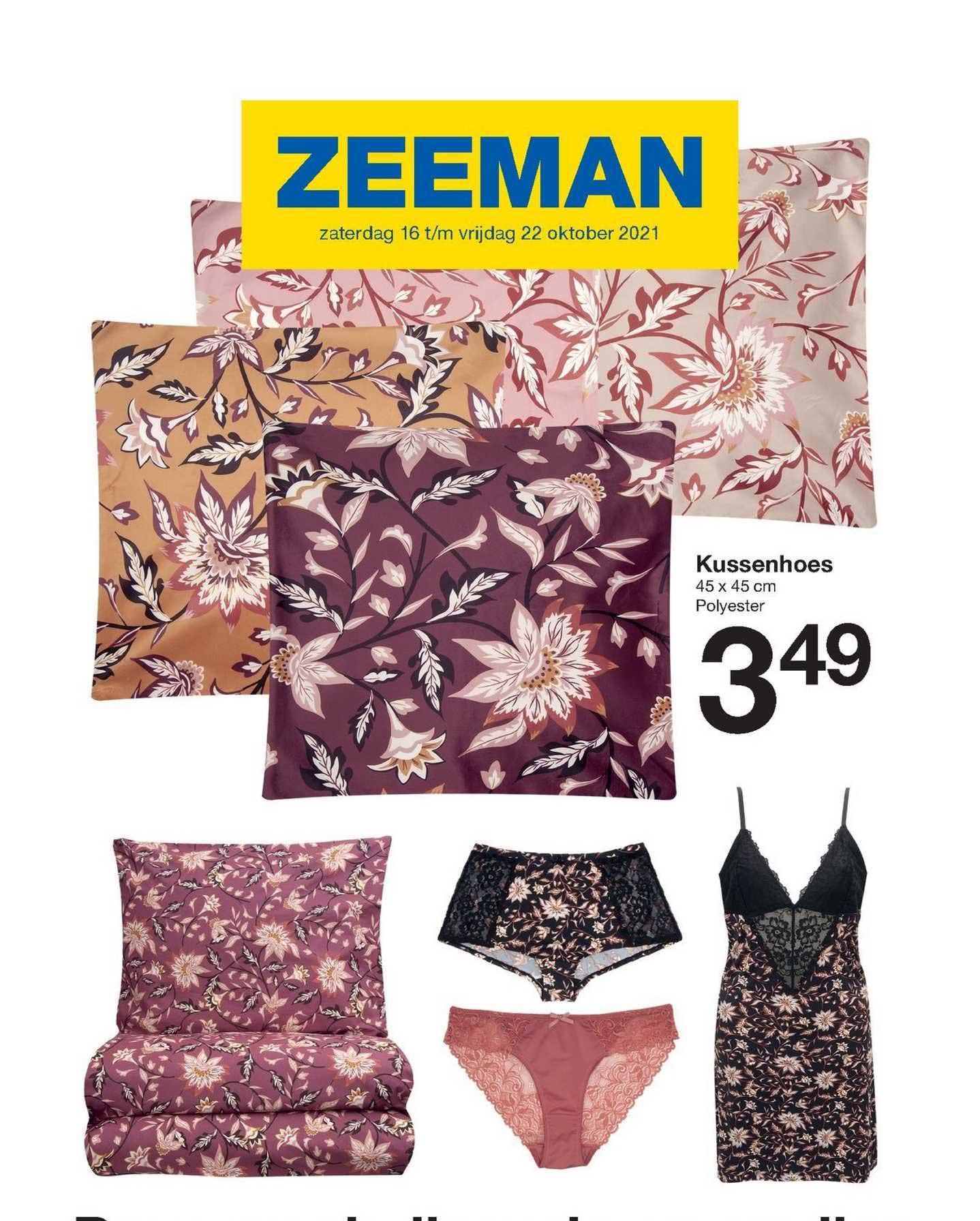 Zeeman Kussenhoes 45 X 45 Cm