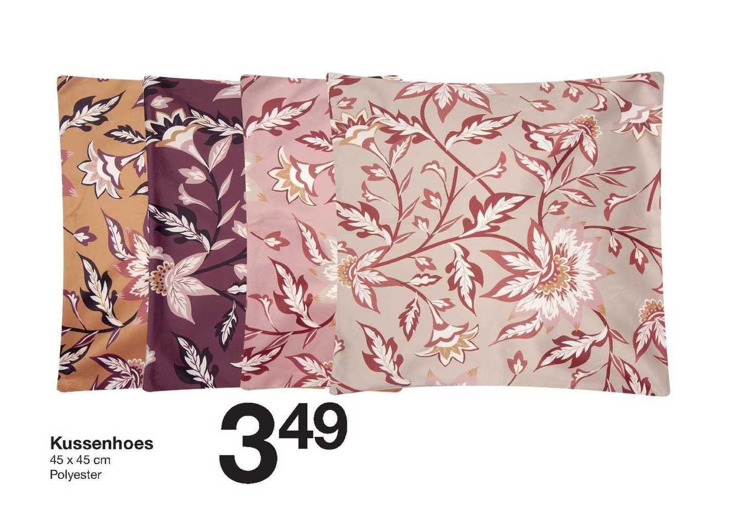 Zeeman Kussenhoes 45 X 45 Cm Polyester