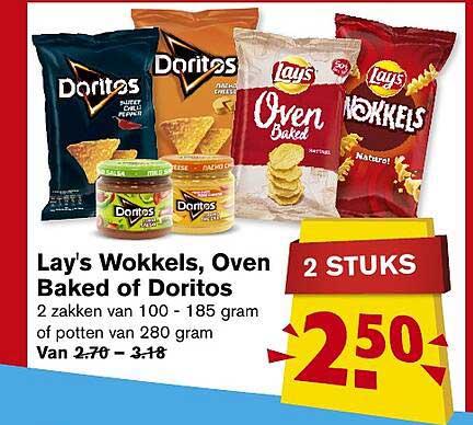 Hoogvliet Lay's Wokkels, Oven Baked Of Doritos