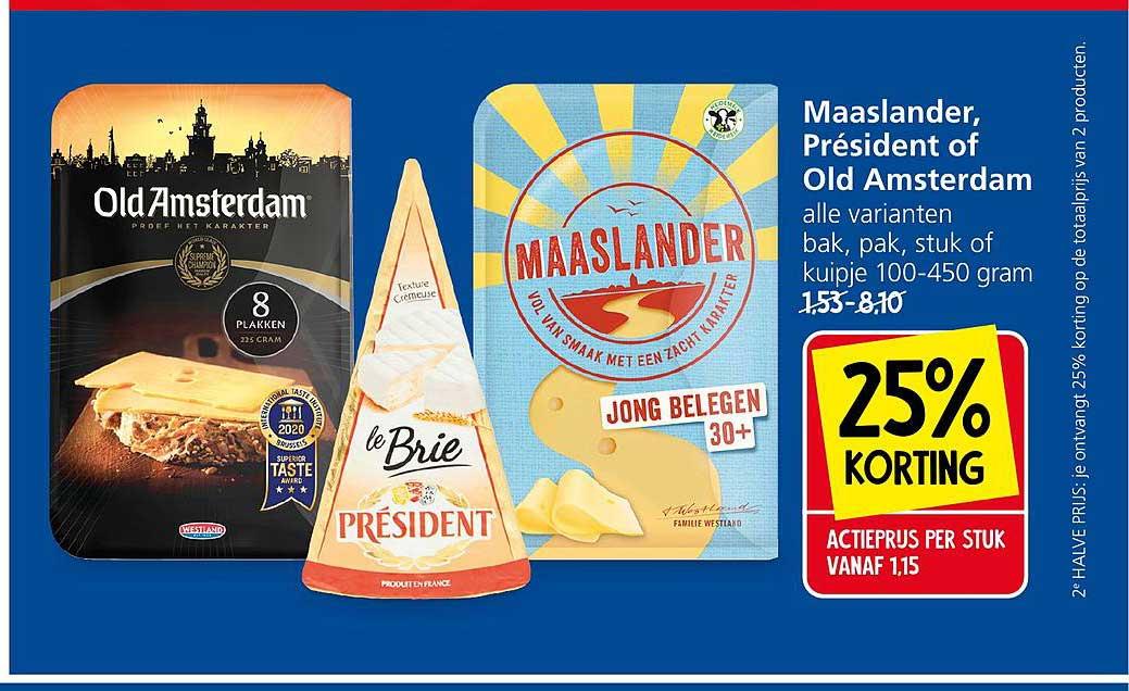 Jan Linders Maaslander, Président Of Old Amsterdam 25% Korting