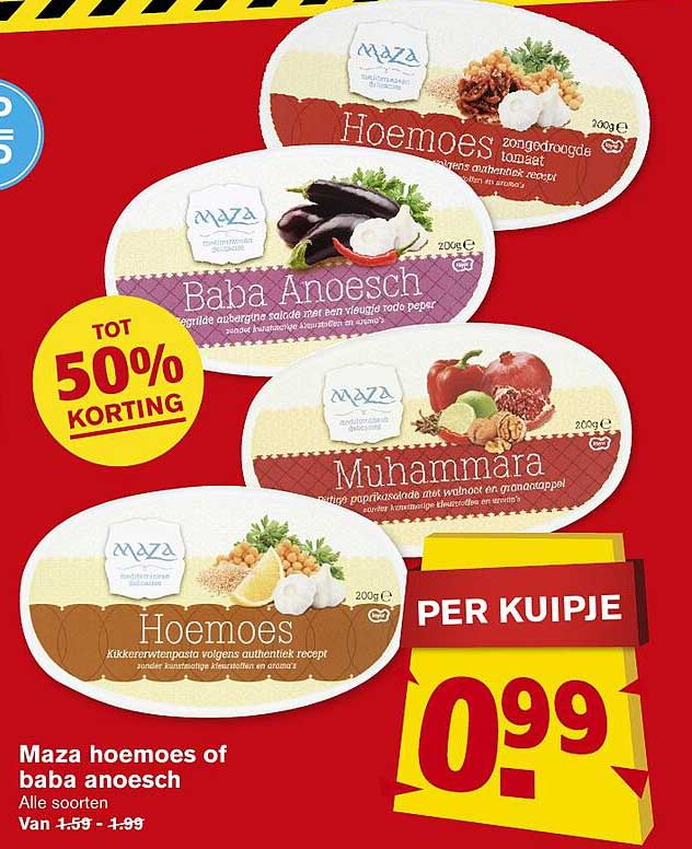Hoogvliet Maza Hoemoes Of Baba Anoesch Tot 50% Korting