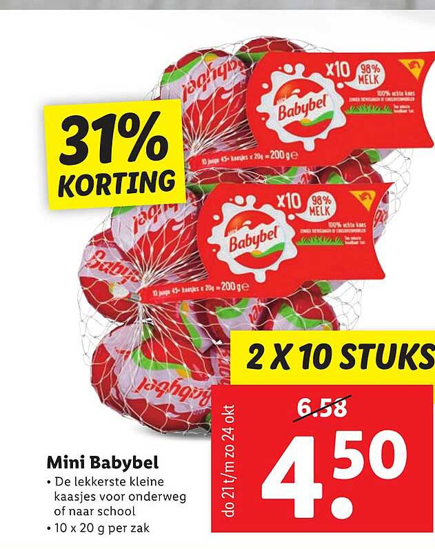 Lidl Mini Babybel 31% Korting