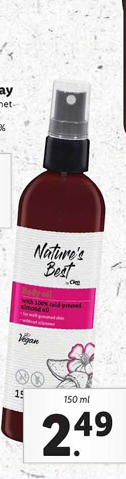 Lidl Nature's Best Body Oil