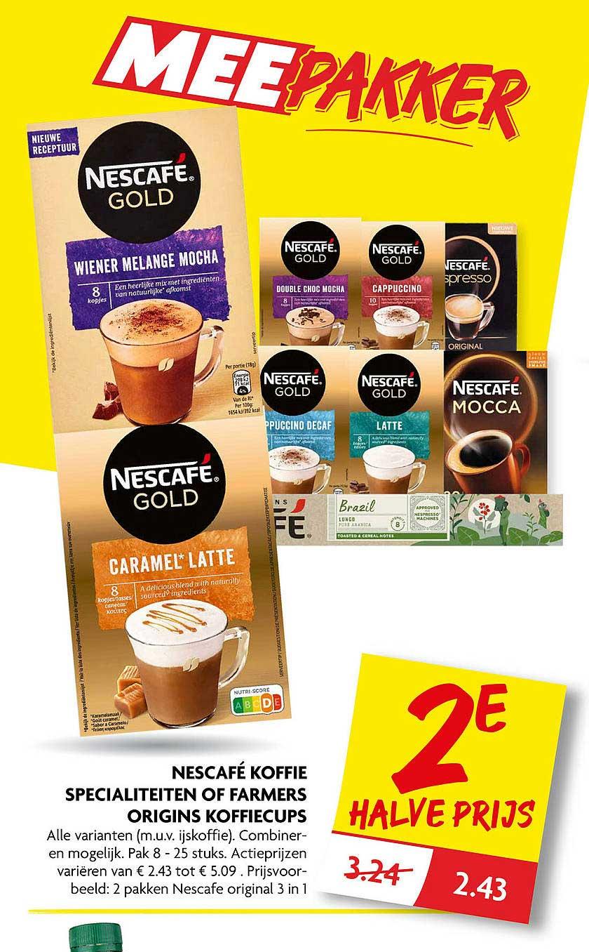 DekaMarkt Nescafé Koffie Specialiteiten Of Farmers Origins Koffiecups