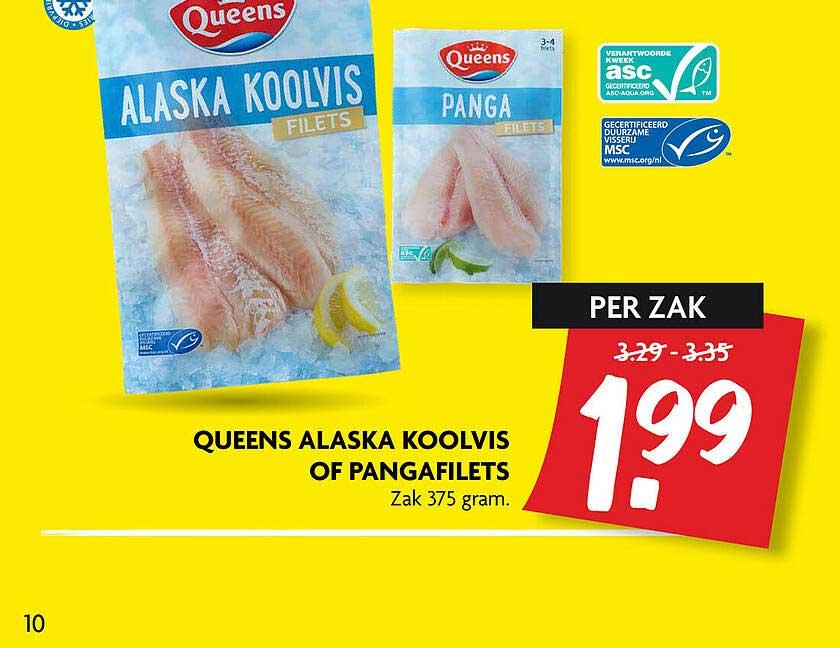 DekaMarkt Queens Alaska Koolvis Of Pangafilets