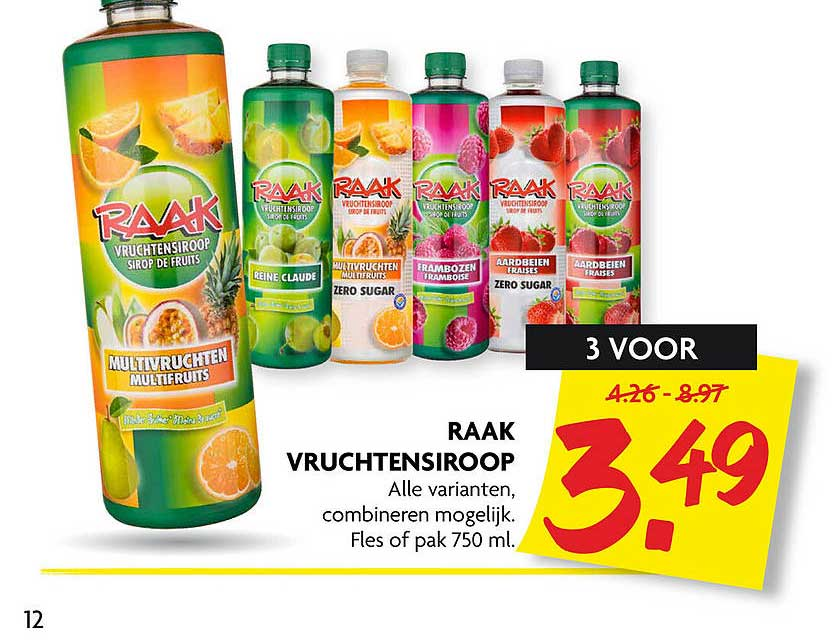 DekaMarkt Raak Vruchtensiroop