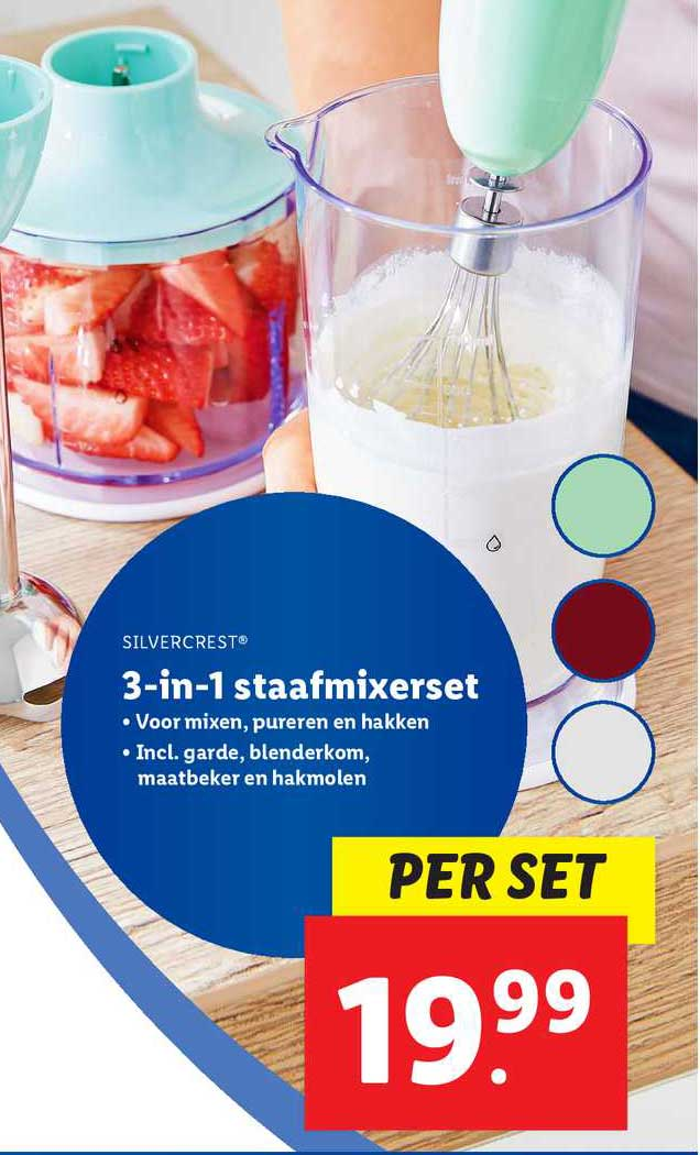 Lidl Silvercrest® 3-in-1 Staafmixerset