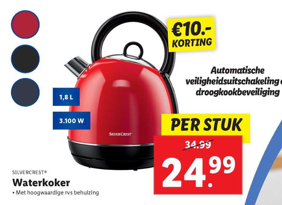 Lidl Silvercrest® Waterkoker €10.- Korting