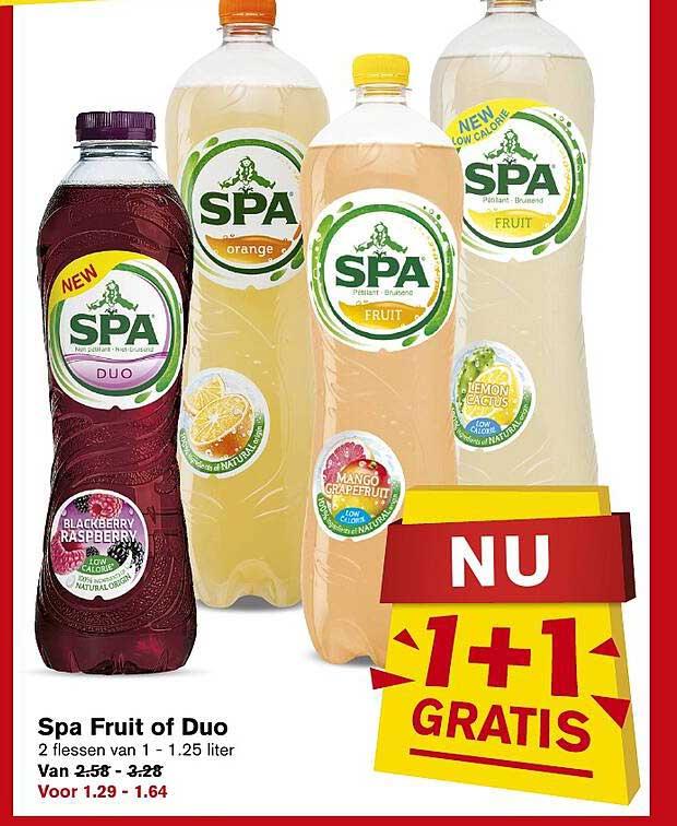 Hoogvliet Spa Fruit Of Duo 1+1 Gratis
