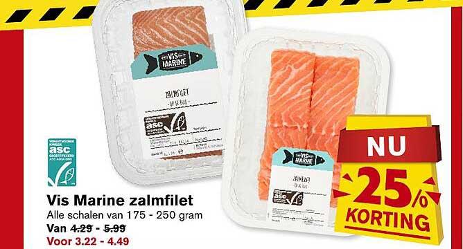 Hoogvliet Vis Marine Zalmfilet 25% Korting