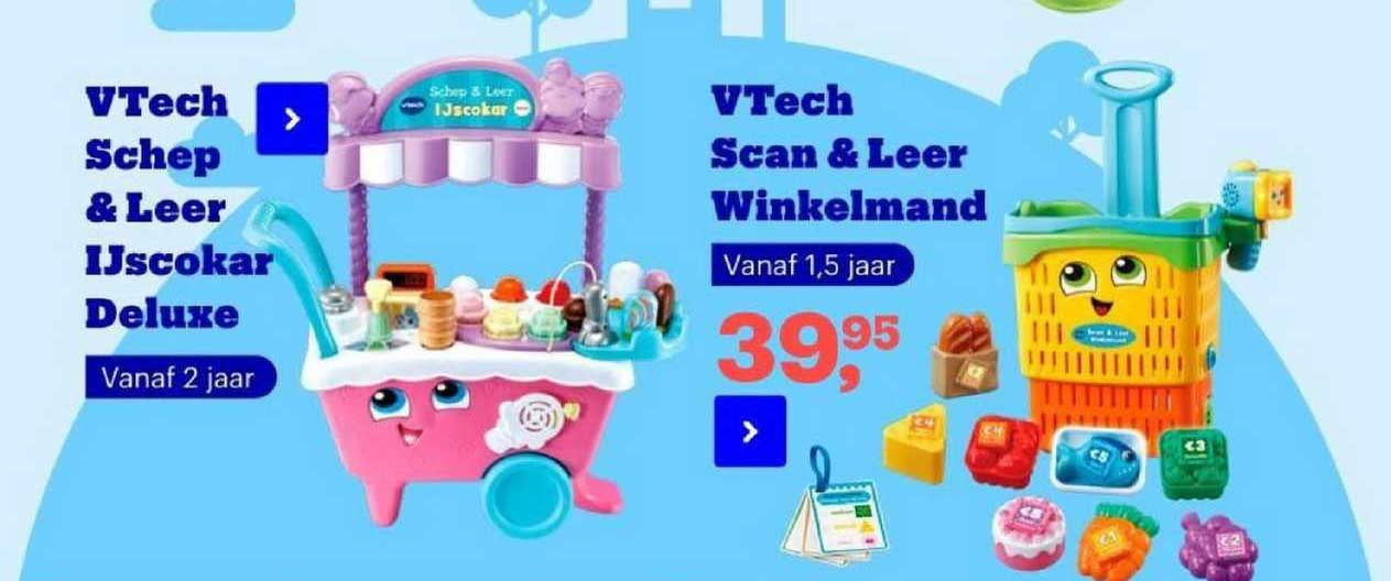 Bol.com VTech Schep & Leer Ijscokar Deluxe Of VTech Scan & Leer Winkelmand