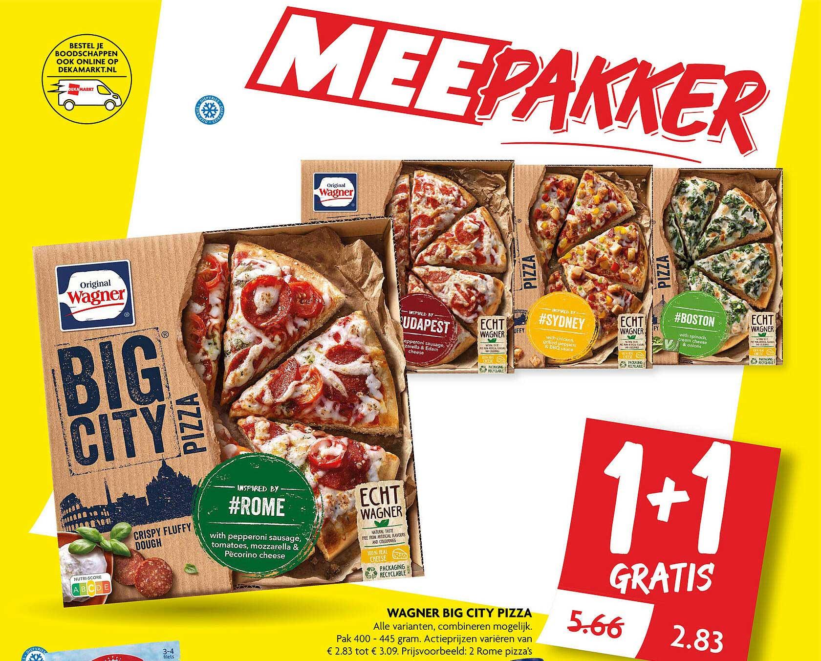 DekaMarkt Wagner Big City Pizza 1+1 Gratis