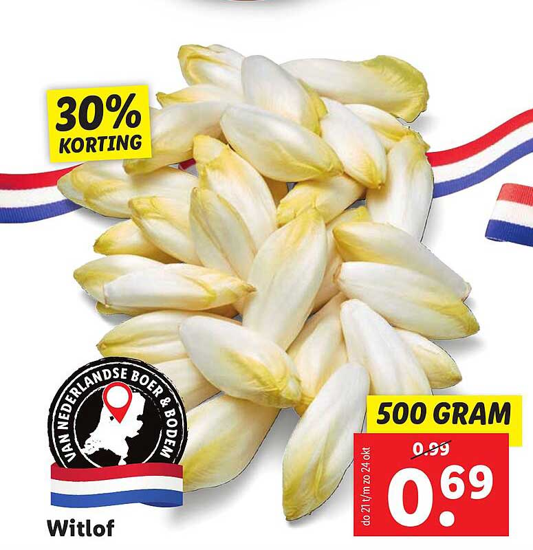 Lidl Witlof 30% Korting