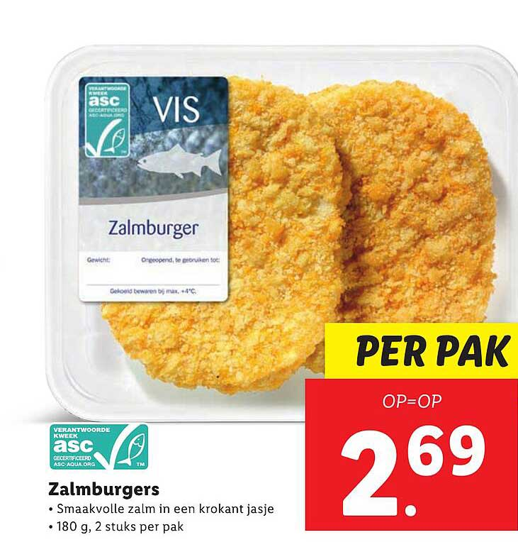 Lidl Zalmburgers