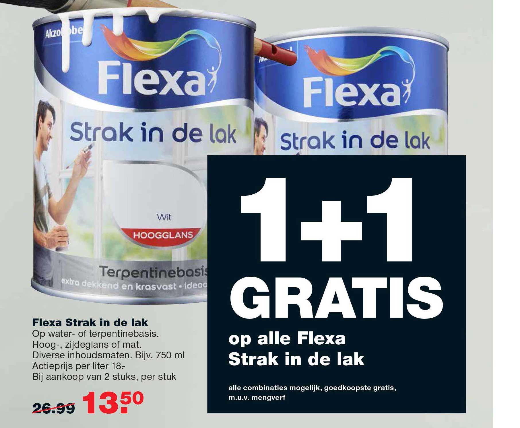 Praxis 1+1 Gratis Op Alle Flexa Strak In De Lak