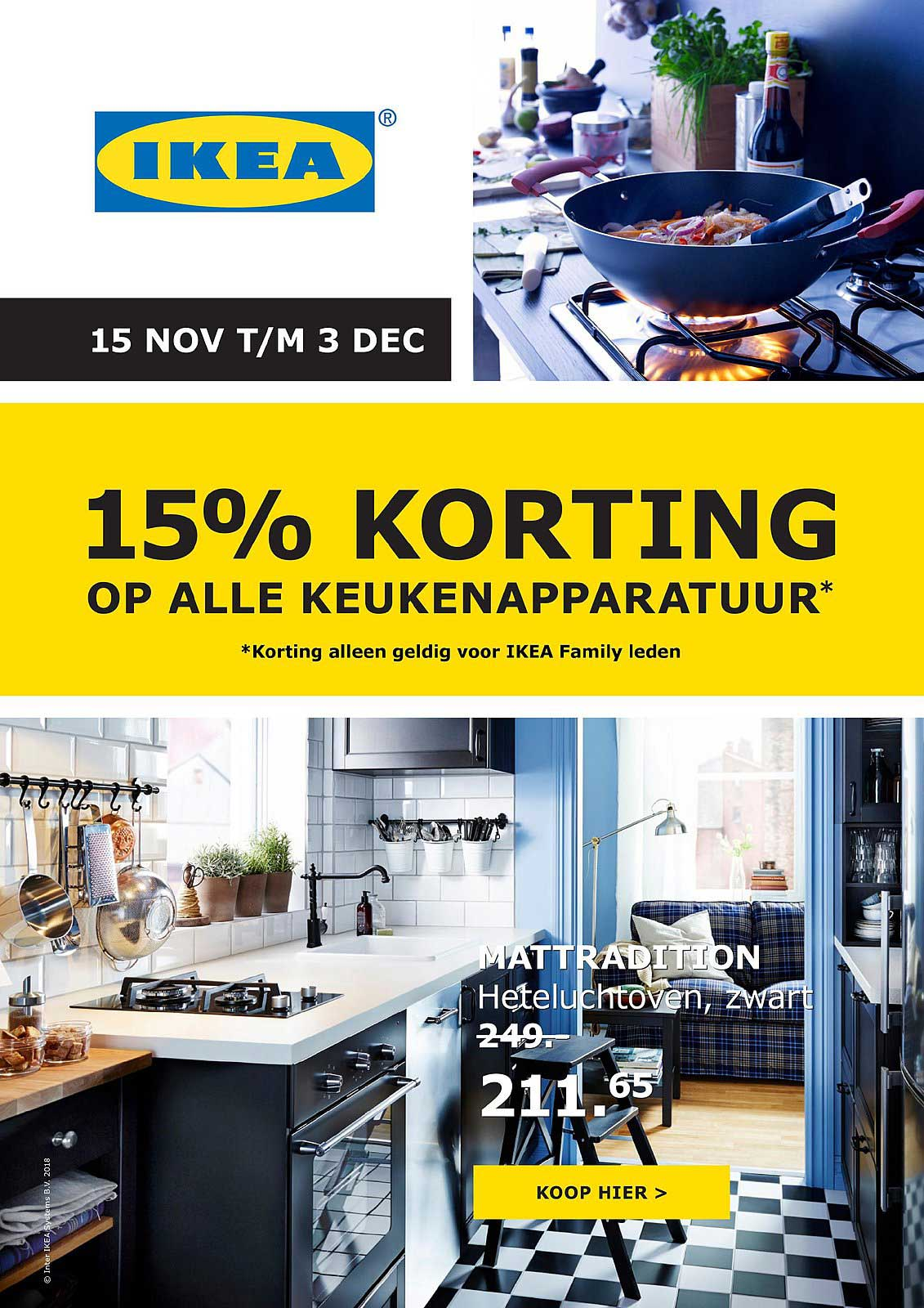 IKEA 15% Korting Op Alle Keukenapparatuur