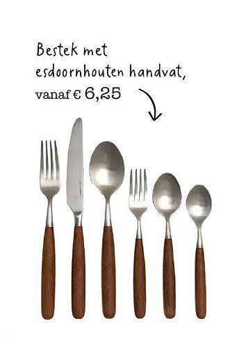 Dille & Kamille Bestek Met Esdoornhouten Handvat