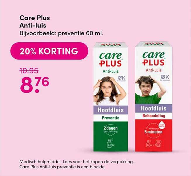 Drogisterij Visser Care Plus Anti-Luis 20% Korting