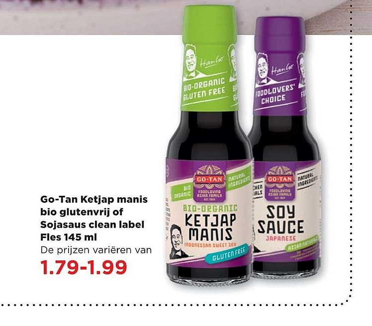 PLUS Go-Tan Ketjap Manis Bio Glutenvrij Of Sojasaus Clean Label Fles 145 Ml