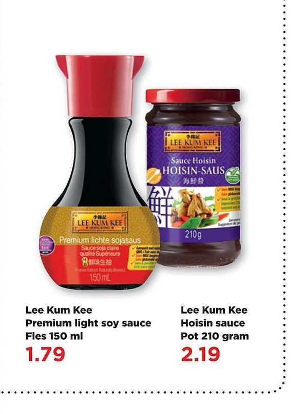 PLUS Lee Kum Kee Premium Light Soy Sauce Fles 150 Ml Of Lee Kum Kee Hoisin Sauce Pot 210 Gram
