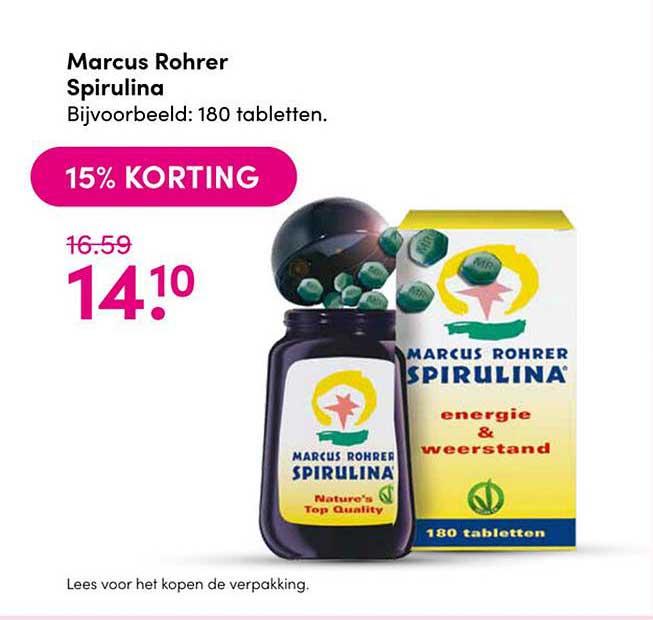 Drogisterij Visser Marcus Rohrer Spirulina 15% Korting