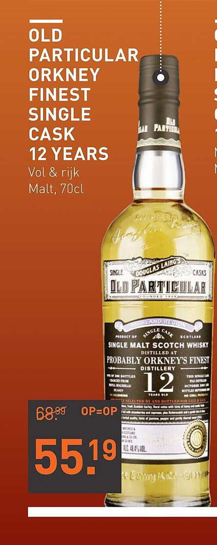 Gall Gall Old Particular Orkney Finest Single Cask 12 Years