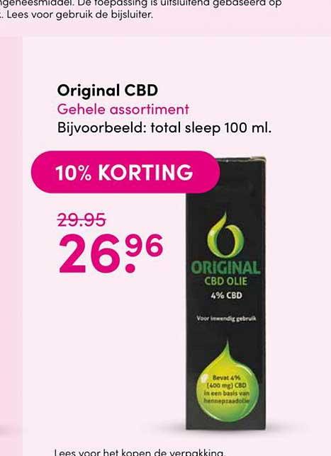 Drogisterij Visser Original CBD 10% Korting