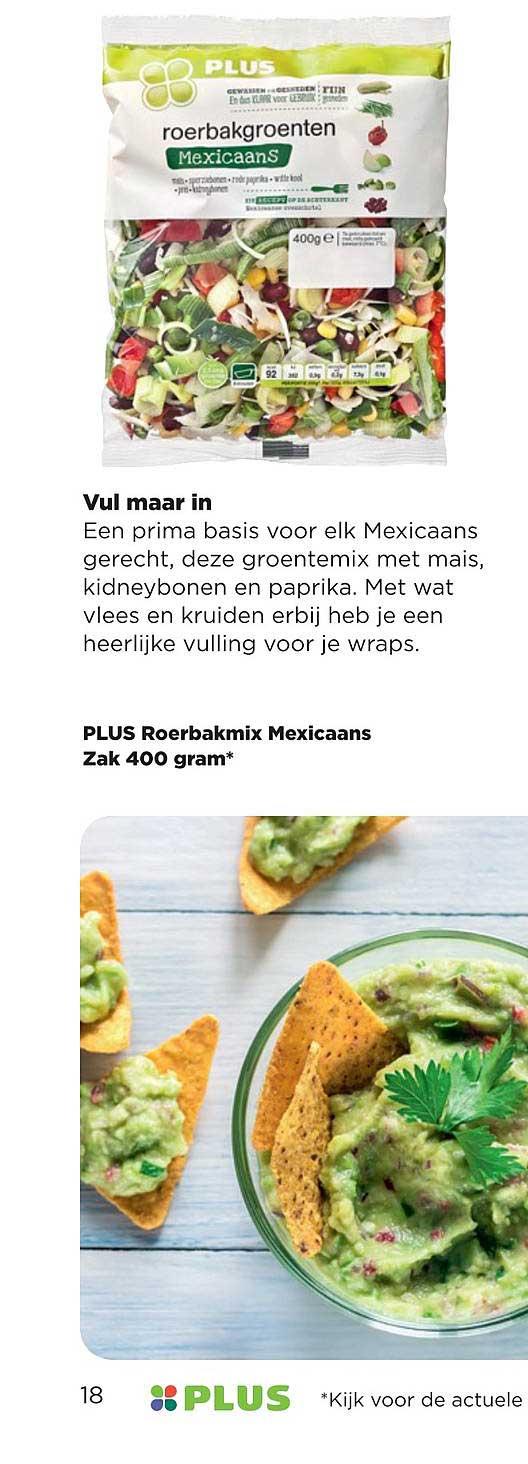 PLUS Plus Roerbakmix Mexicaans Zak 400 Gram