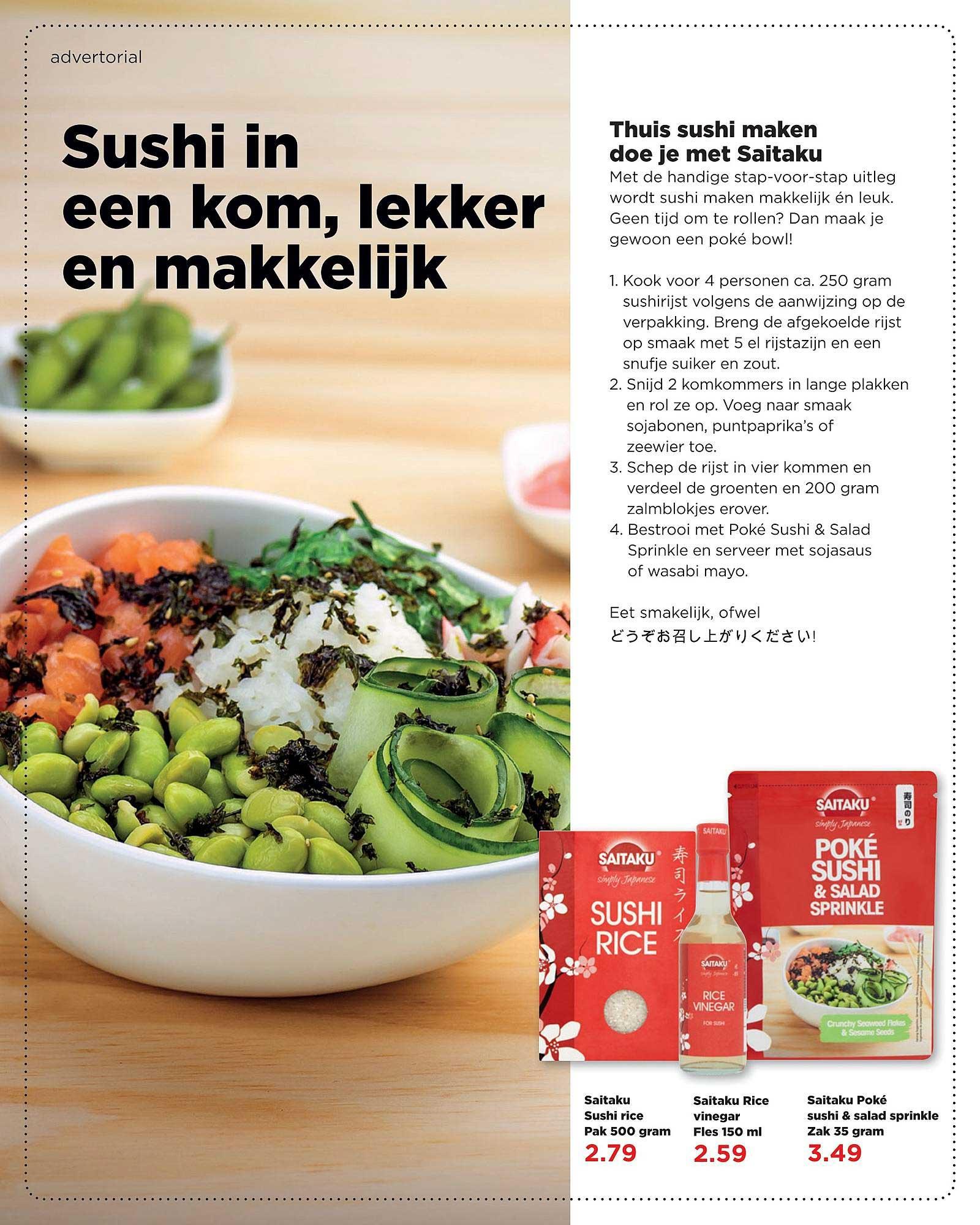 PLUS Saitaku Sushi Rice, Saitaku Rice Vinegar Of Saitaku Poké Sushi & Salad Sprinkle