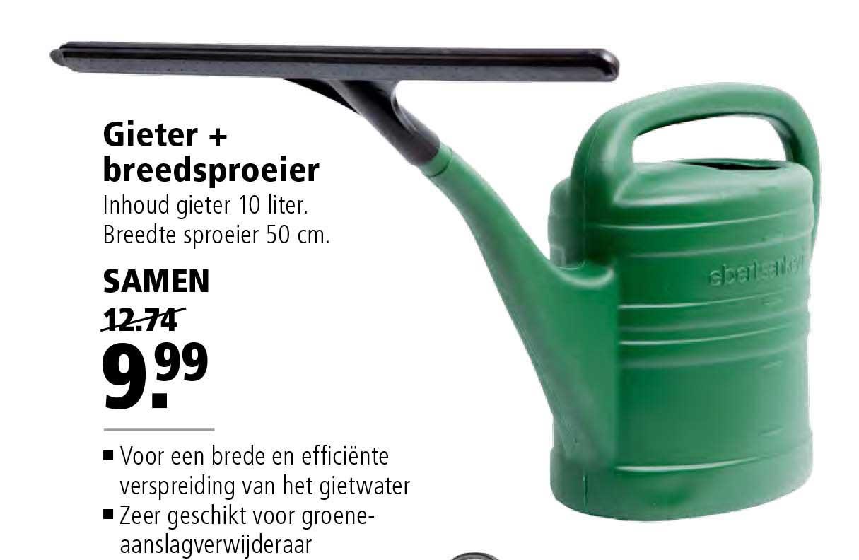Welkoop Gieter + Breedsproeier: Samen €9,99